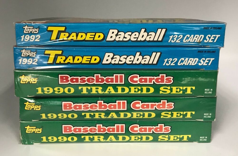 Lot of 5 1990 1992 topps traded baseball complete