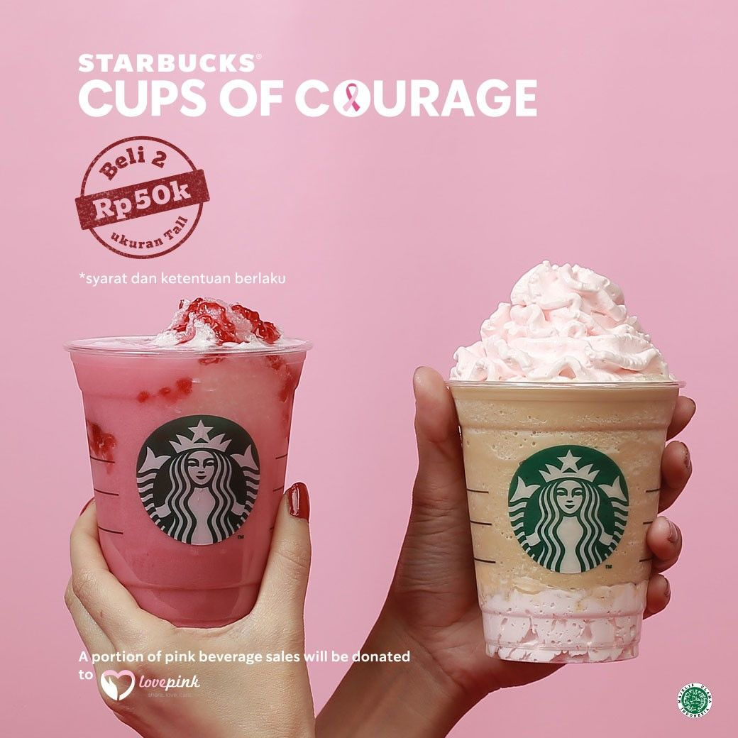 SBUXCUPSOFCOURAGE [TODAY ONLY] Pink Drinks Buy 2 for IDR