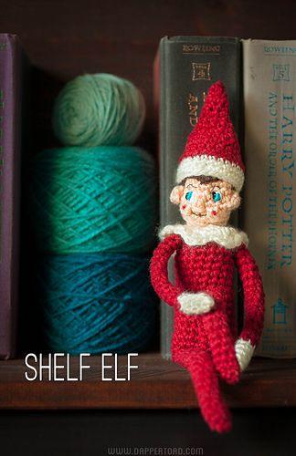 Shelf Elf Amigurumi ~ Free Pattern ~ PDF Download here: http://www.ravelry.com/patterns/library/shelf-elf-2