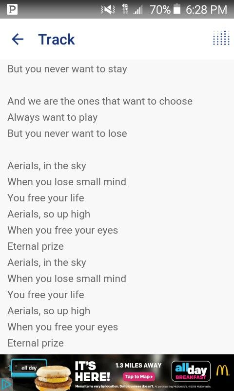 Aerials : System Of A Down | SONGS AND LYRICS | Pinterest