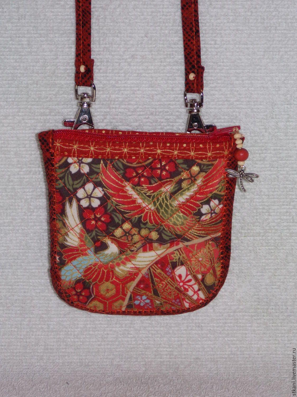 07155d4b0ff7 Купить Сумочка на шею, монетница, Маленькая сумочка из ткани, Ксивник -  ярко-