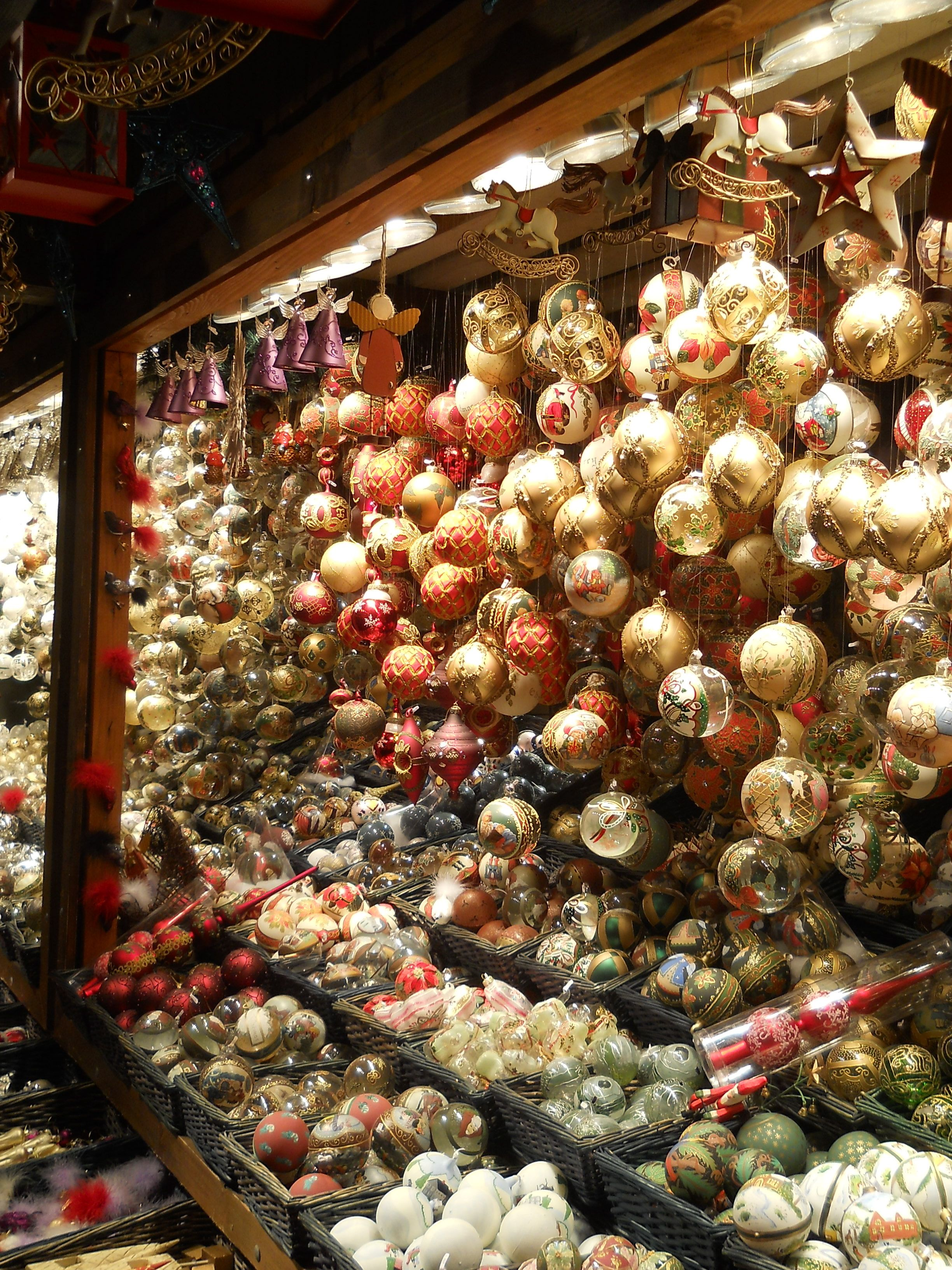 Wonderful Christmas Ornaments In Vienna, Austria. Beautiful Shops, Markets And Cafes.