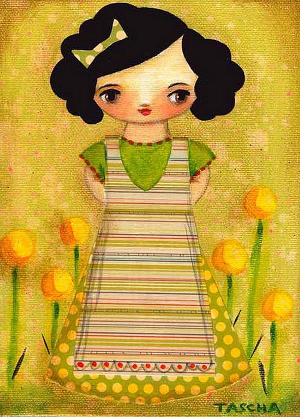 Cute Paintings By Tascha Parkinson Frida Ilustracao