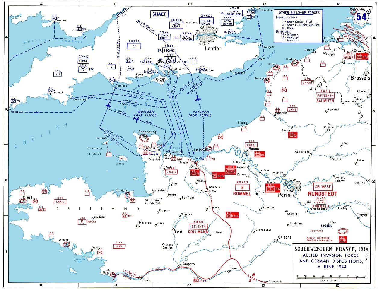 dday invasion map june 6 1944 ww ii pinterest