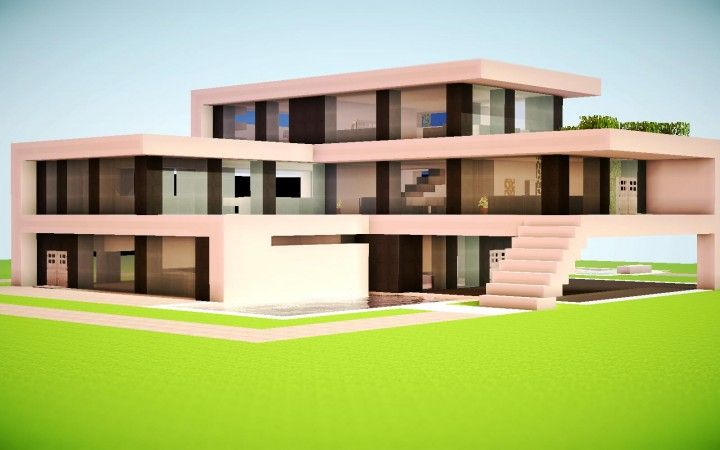 A Post Featuring 16 Great Examples Of Modern Minecraft House Architecture Gives You Modern Minecraft Houses Minecraft Modern House Blueprints Minecraft Modern