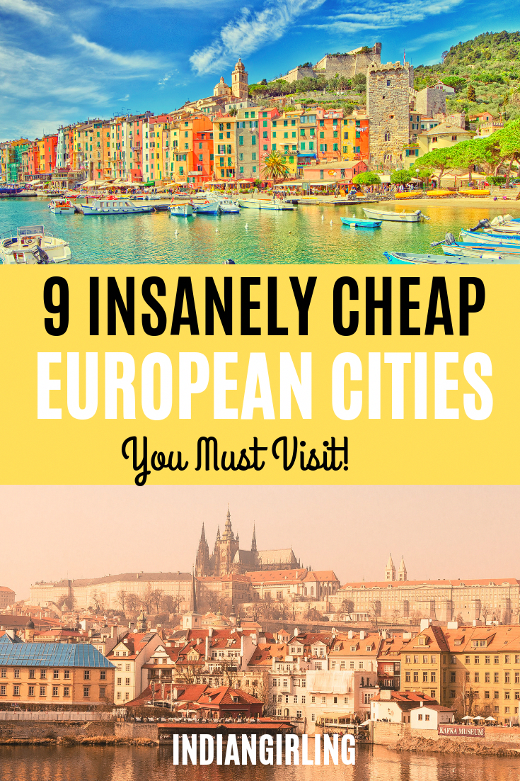 Wondering what are the cheapest European cities? Here's my top 9 destinations with travel tips on things to do, where to stay, average budget and what to eat! #europetraveltips #cheapeuropeancitiestovisit #budgettravel #europedestinations #travelinspiration