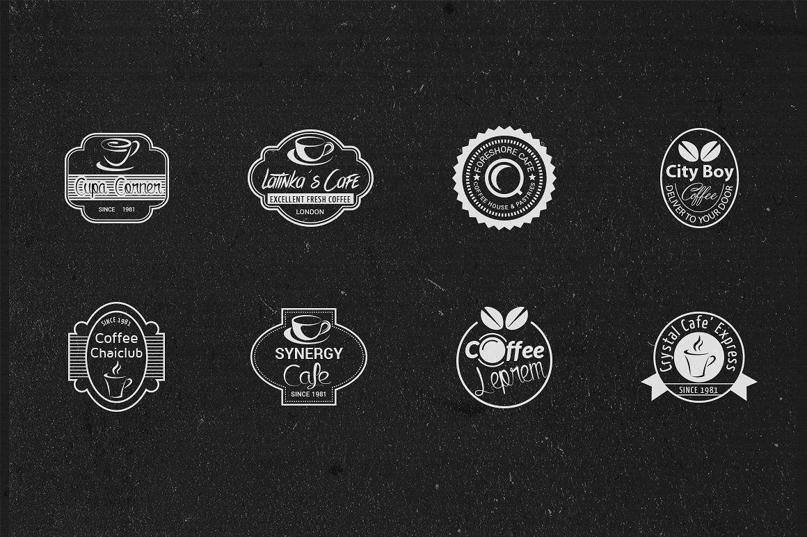 Cafe Logos, Badges or Labels Cafe logo, Labels, Badge