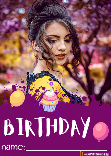 Happy Birthday Wishes With Photo Upload Online Photo Frames Happy Birthday Photos Birthday Wishes With Photo