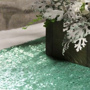 Mint green sequin table runner auckland hire