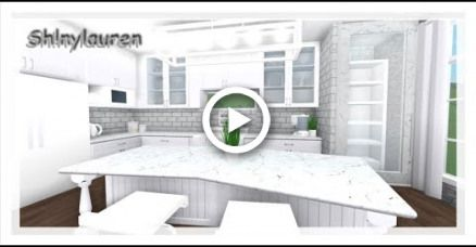 ROBLOX/bloxburg/White Aesthetic Small Kitchen Build -Sh ...