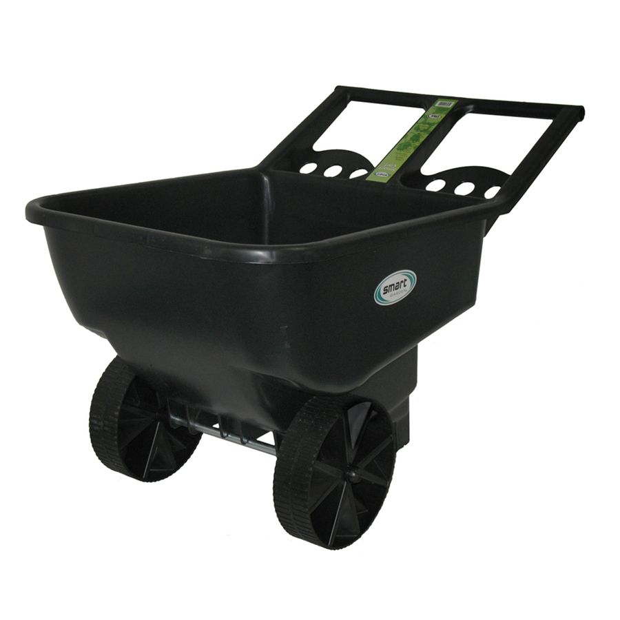 Smart Garden 4 5 Cu Ft Poly Yard Cart Garden Cart Yard Cart