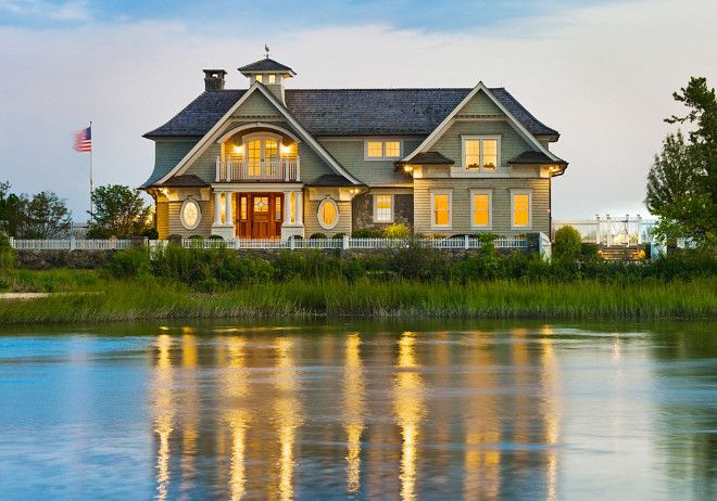 Beach house Exterior. New England Beach house Exterior Waterfront ...