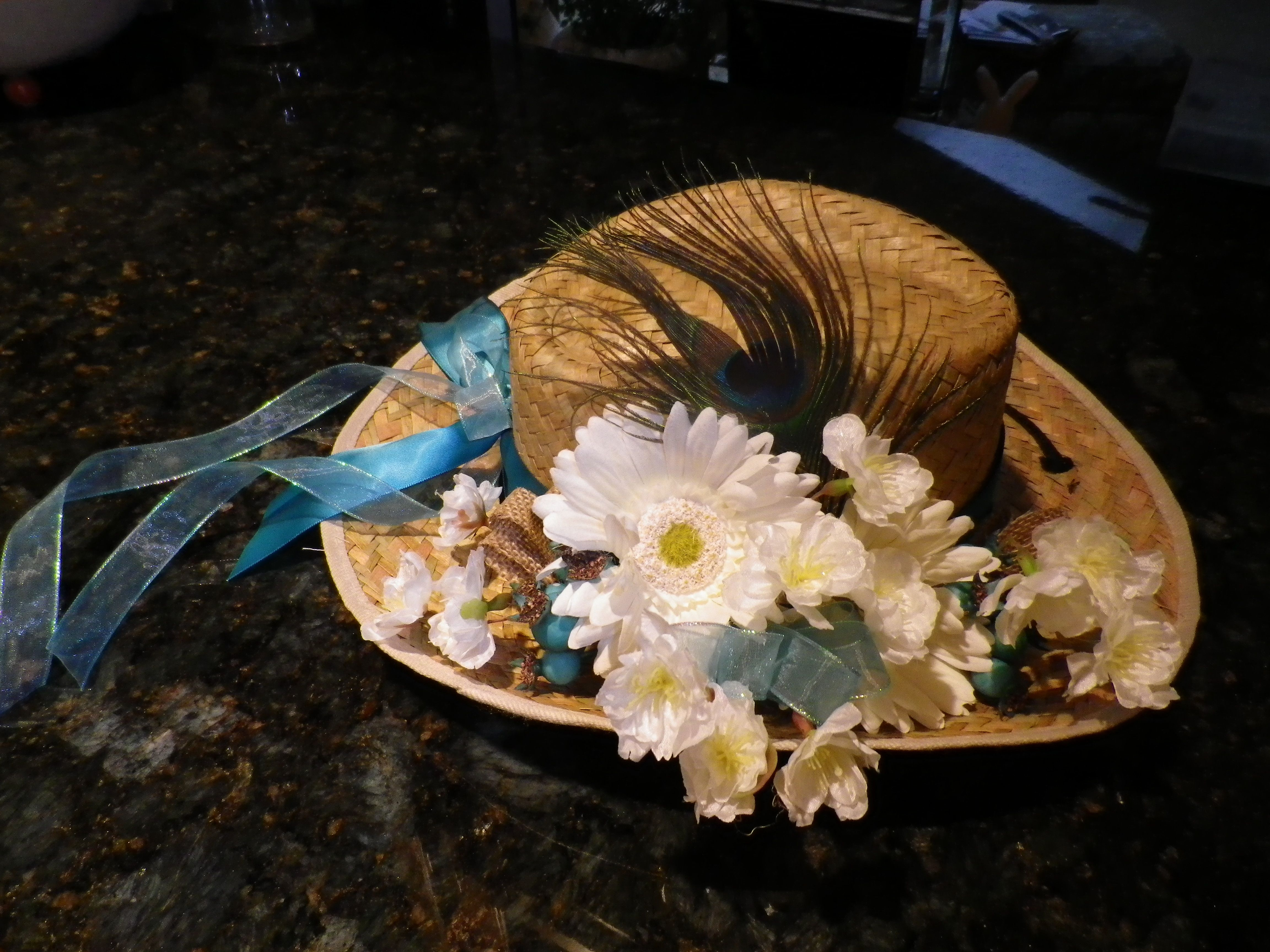 45c7986a7 These decorated cowboy hats served as centerpieces at a western ...