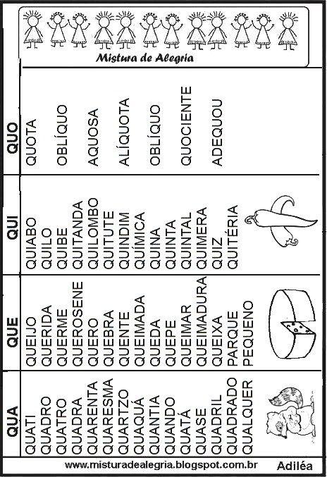 Fichas De Leitura Alfabetizacao Imprimir Colorir Letra Q Jpg 464