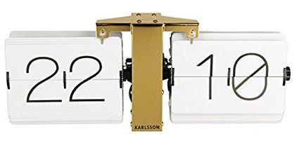 Karlsson Uhr karlsson ka5601wh flip uhr no standfuß messingf metall weiß