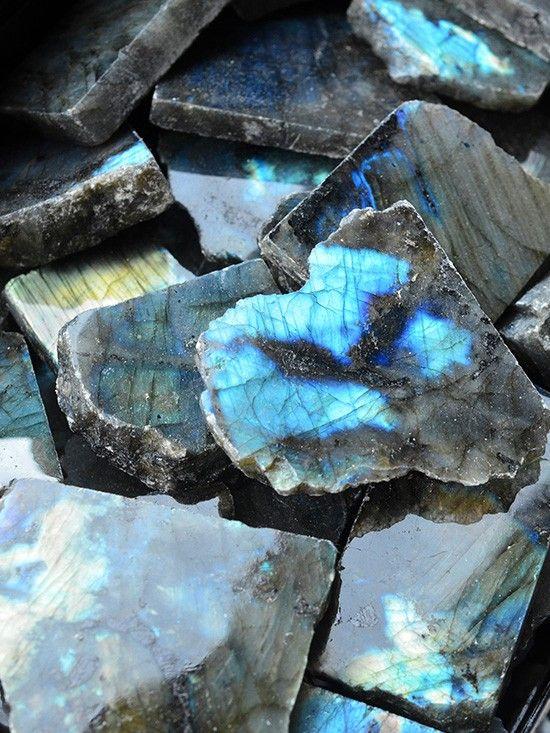 Labradorite Crystal Slices Crystals Labradorite Crystal Healing Crystal Jewelry
