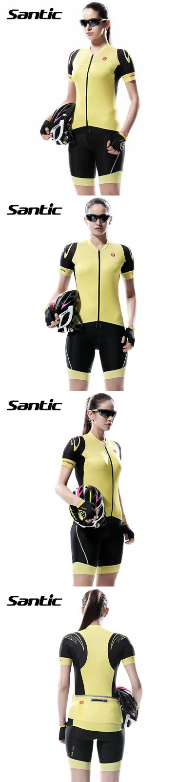 Cycling Clothings   Santic L5CT050Y Female Cycling Short Sleeves Suit