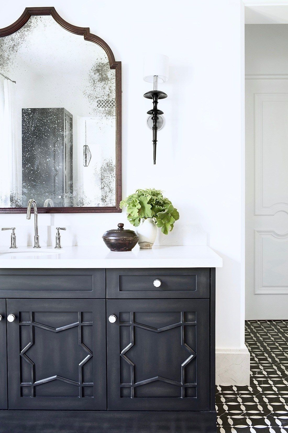 Moroccan Inspired Master Bath Bathroom Design
