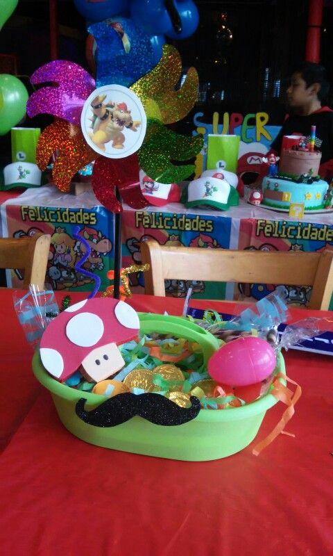 :) centros de mesa Super Mario bros