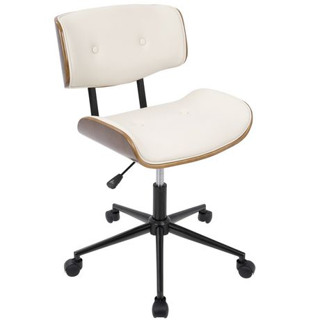 Lumisource Mid Century Modern Office Chair Cream Products In