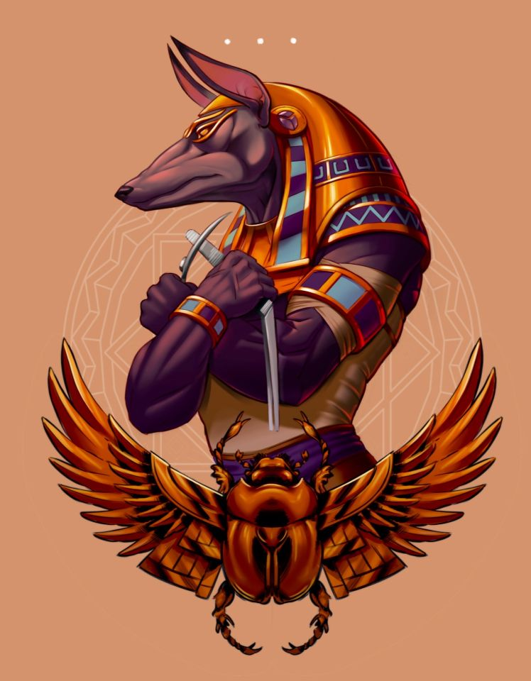 Anubis tattoo design. I borrowed the mandala if anyone ...