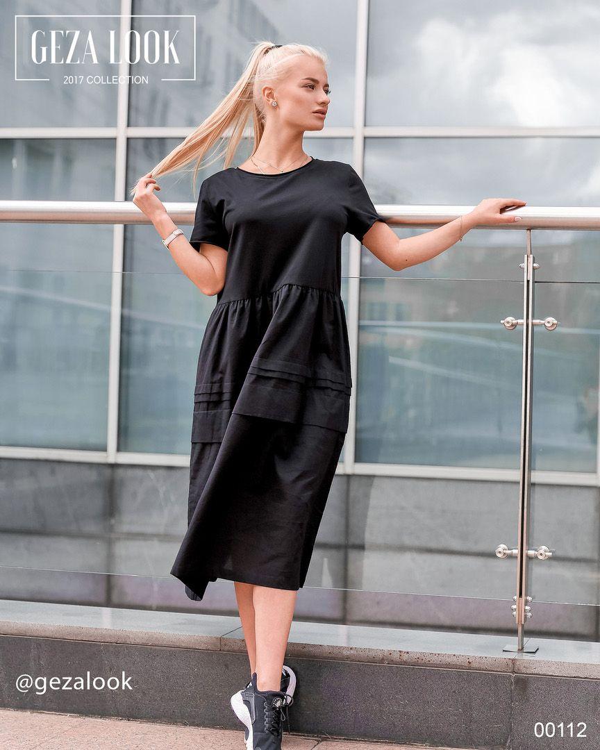 4d9a0d751f6 Супер стильное и удобное черное платье миди💣 Обратите внимание на  оригинальность юбки платья😍 Безумно
