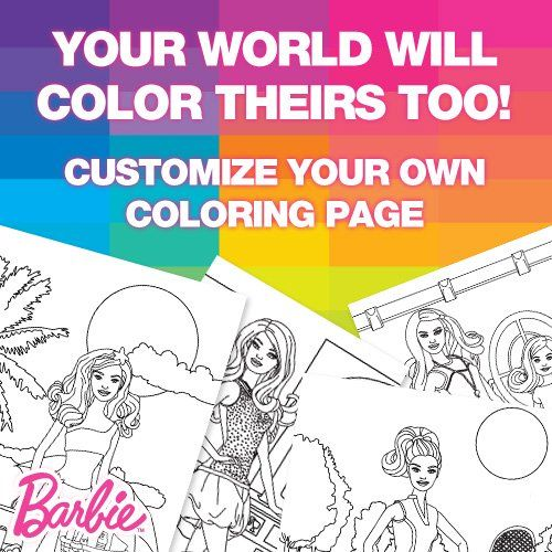 great way for girls to create and design free barbie printable coloring pages