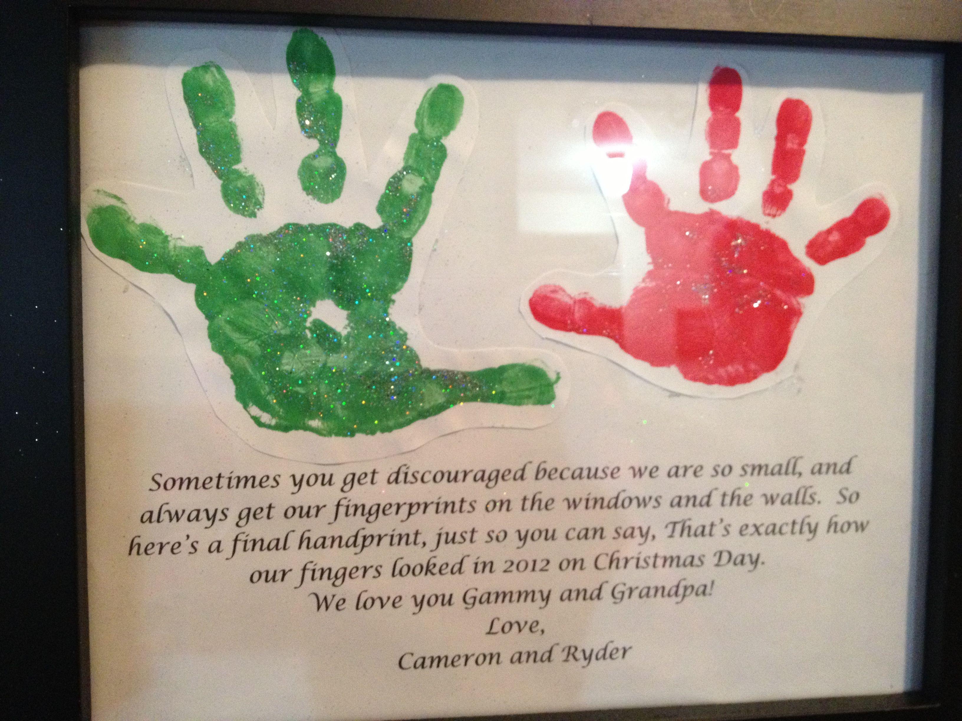 Perfect grandma/grandpa Xmas present! | Kids print ideas | Pinterest
