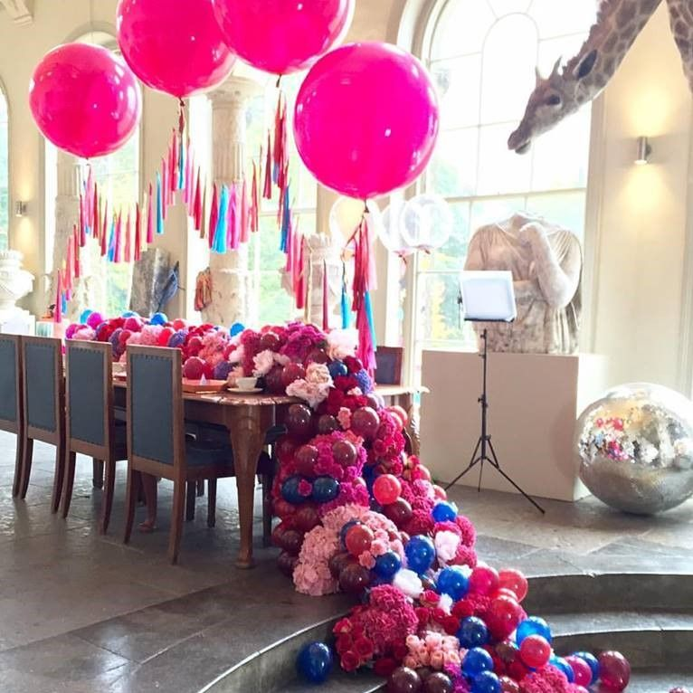 Charming Bubblegum Balloons, Early Hours Flowers, Aynhoe Park, Flower Arch, Balloon  Arch, Good Ideas
