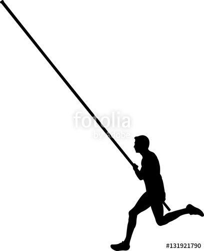 Black Silhouette Of A Male Athlete Pole Vaulting Photo On Fotolia Www Fotolia Com Id 131921790 Vaulter Outdoo Athletic Men Sports Theme Pole Vault