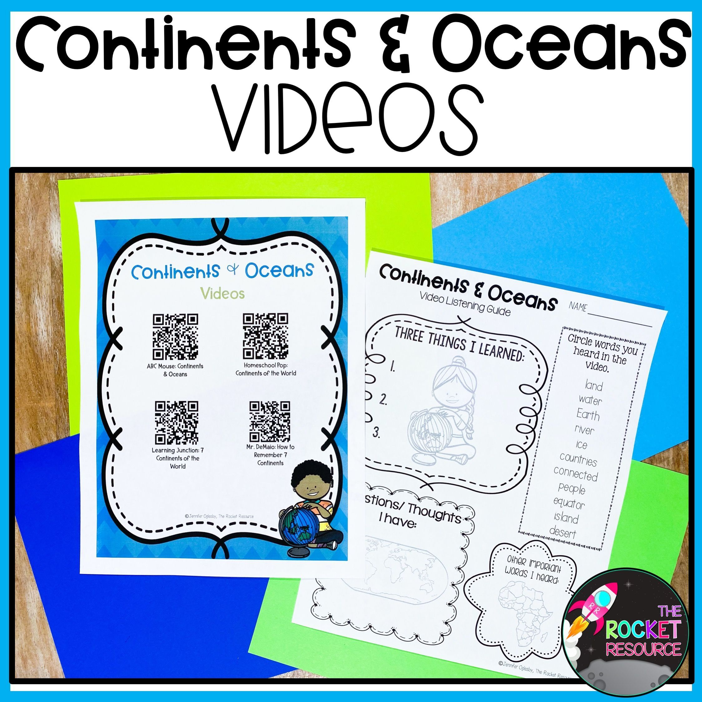 Pin on Continents and Oceans in the Classroom