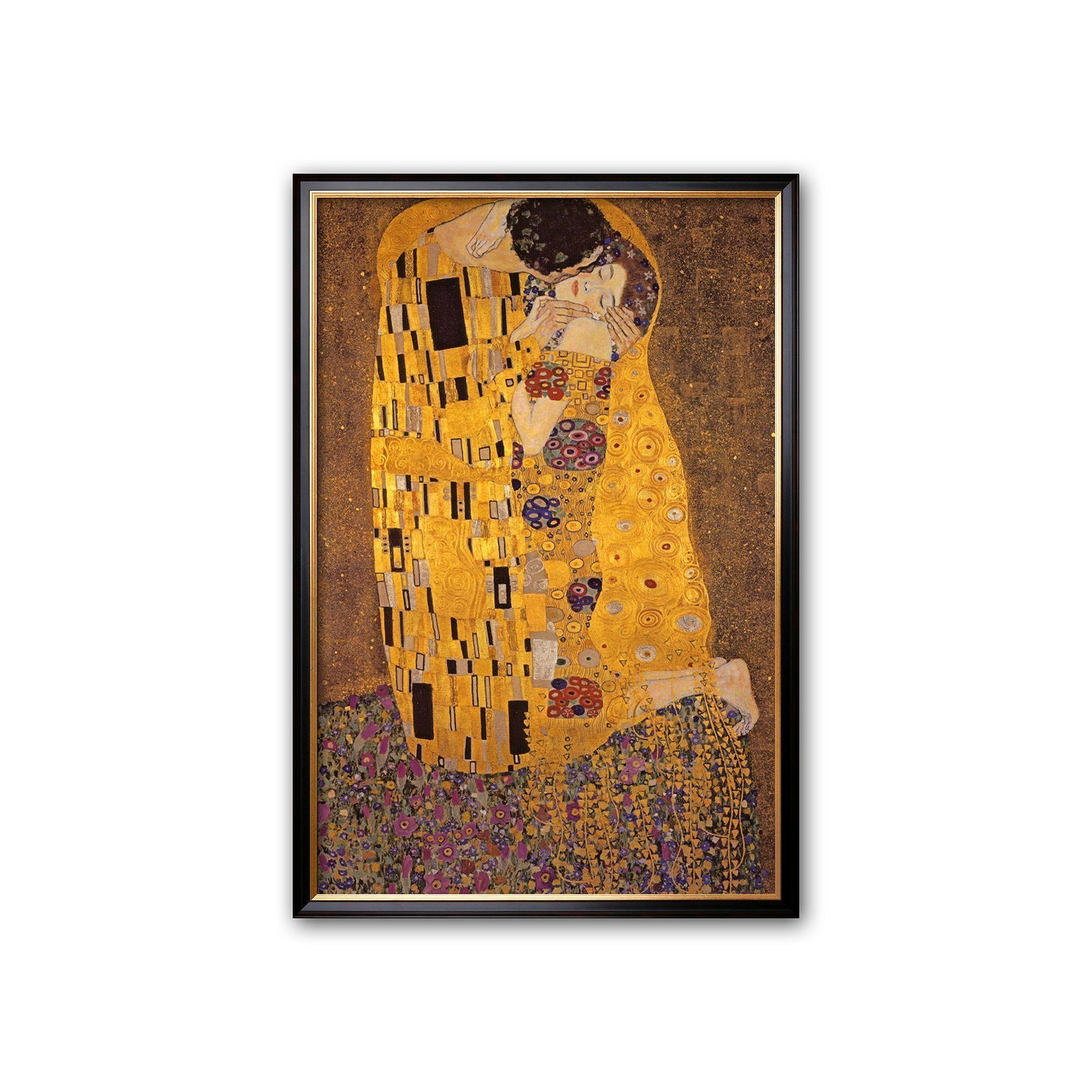 Art.com The Kiss, c.1907 Large Framed Art Print by Gustav Klimt