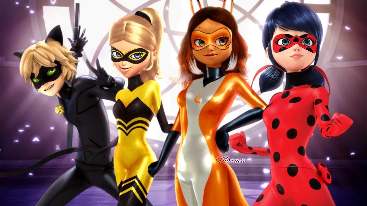 The New Superheroes Of Paris Miraculous Ladybug Volpina And Queen Bee Miraculous Ladybug Comic Miraculous Ladybug Miraclous Ladybug