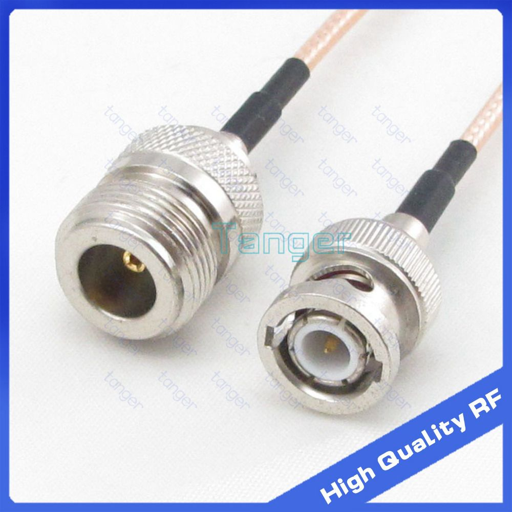 4Pcs RG316 BNC Male Plug to BNC Male Plug RF Pigtail Jumper Cable Adapter  SS