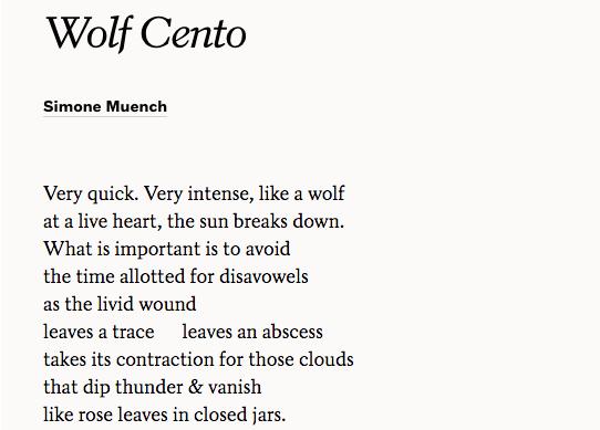 poetry form cento