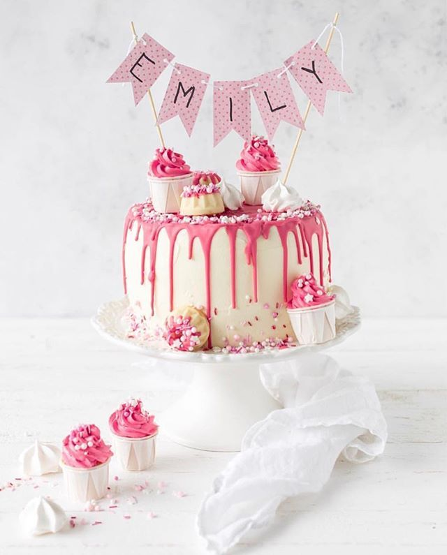 Drip Cake für Mädchen #birthdaycake #geburtstagstorte # ...