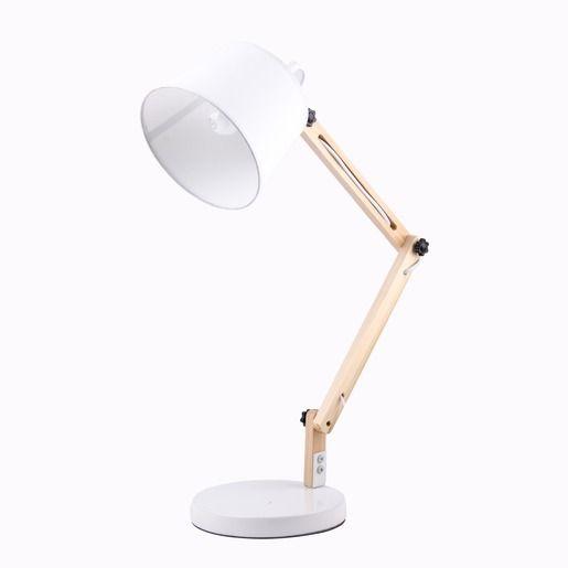 la foire fouille lampe de bureau design 40 x 20 x h 60 cm blanc luminaires belle. Black Bedroom Furniture Sets. Home Design Ideas