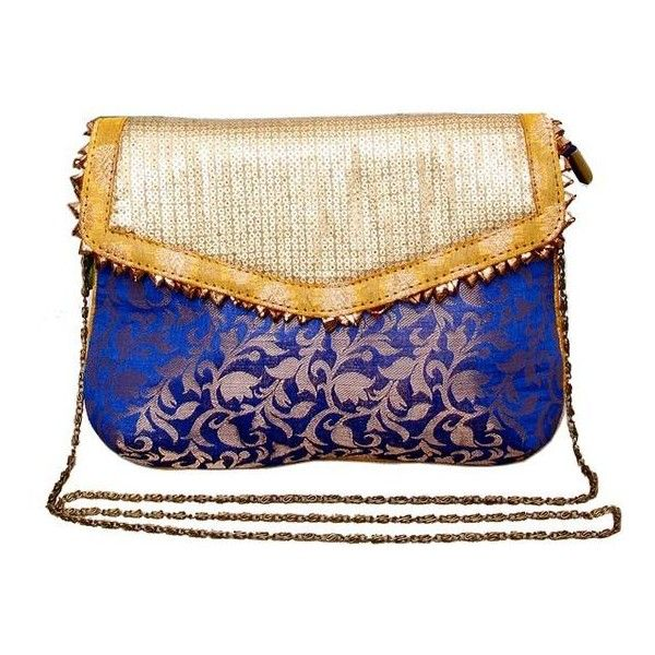 DEEP BLUE CLUTCH BAG featuring and polyvore,