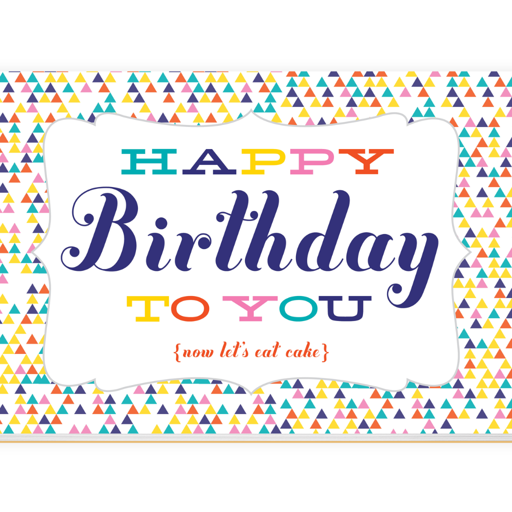 Happy Birthday To You Paper Placemats