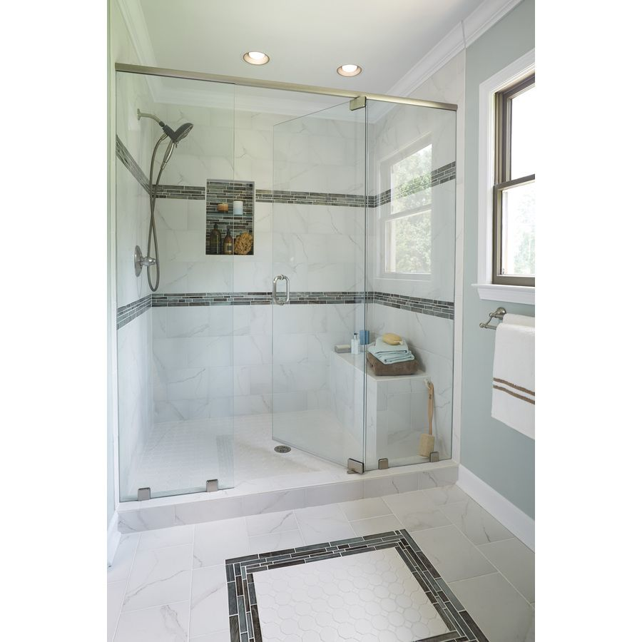 Shop Style Selections Calacatta White Glazed Porcelain Wall Tile ...