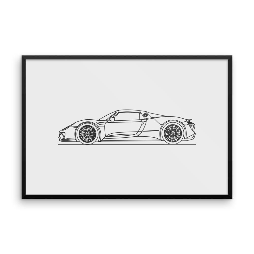 918 Minimal Line Art (framed photo paper)