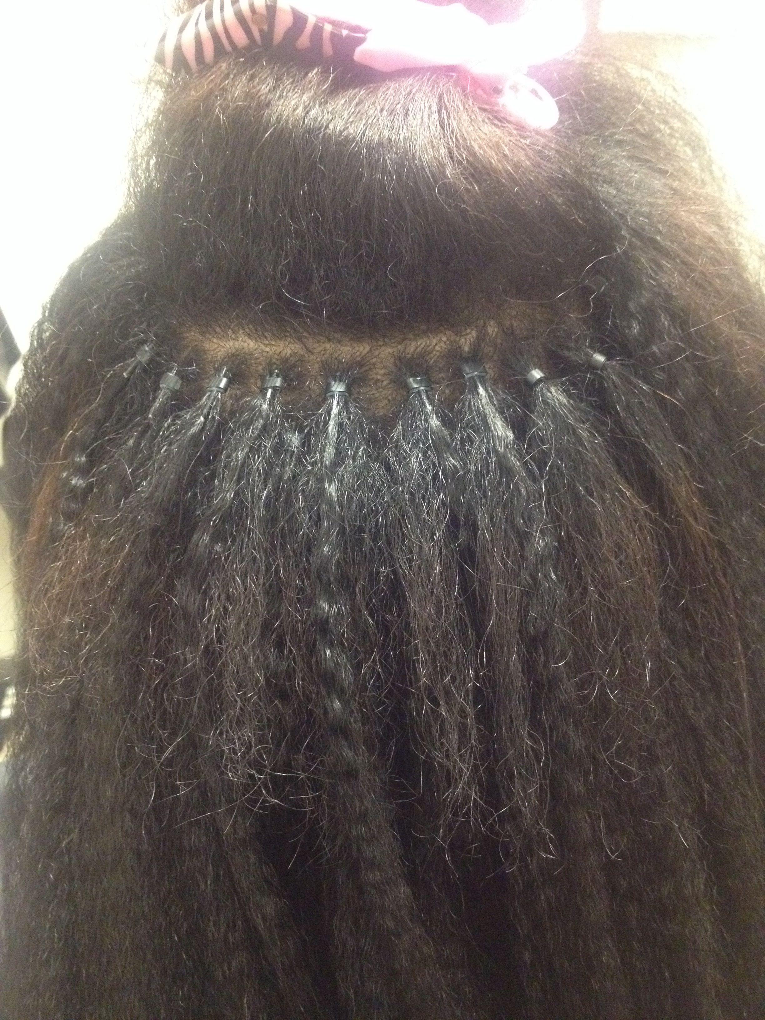 Natural Hair Microlinks Black Hair Extensions Glamour Hair