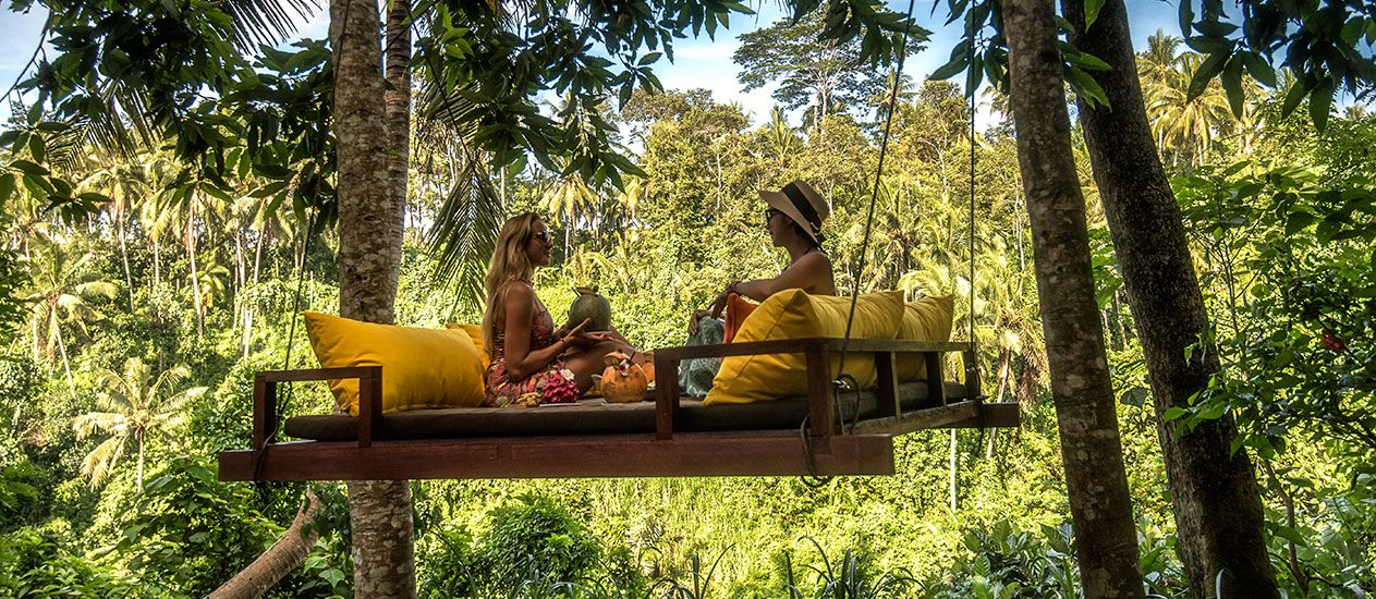 Swing Chair Ubud How To Recover Rocking Cushions At Forest Spa Of Kamandalu Ubud, Bali | Infra Spa, E Home