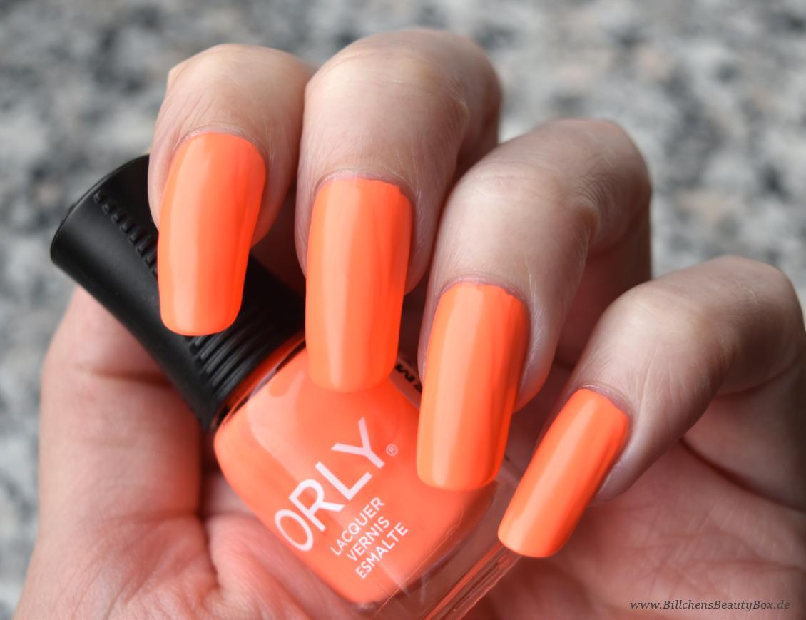 ORLY  nail polish - Mayhem Mentality - orange neon