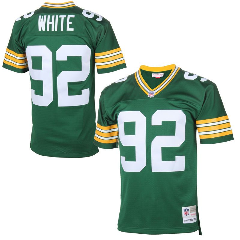 62b448983 Reggie White Green Bay Packers Mitchell   Ness Retired Player Vintage  Replica Jersey - Green