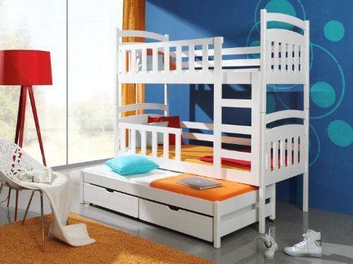 Amazon De Etagenbett Stockbett Hochbett Doppelbett Viki 80x180 Kinderbett Wohnideebilder Kid Beds Home Toddler Bed