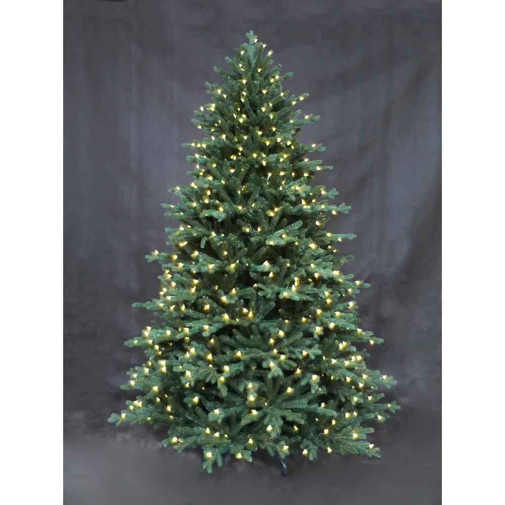 Home Accents Holiday 7 5 Ft Miles Fir Led Pre Lit Tree 025007560030152 The Home Depot Artificial Christmas Tree Christmas Tree Rainbow Christmas Tree