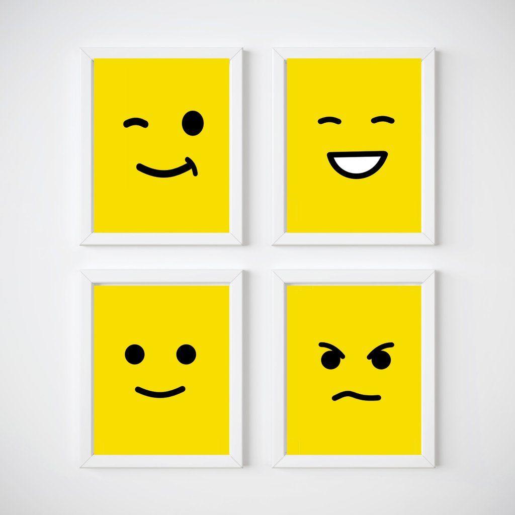 Lego Head Nursery Room Wall Decor, Kids Wall Decor Print your own ...