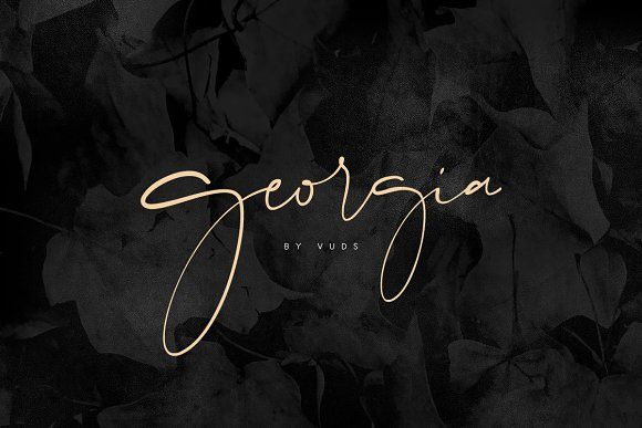 Georgia script georgia fonts and typography