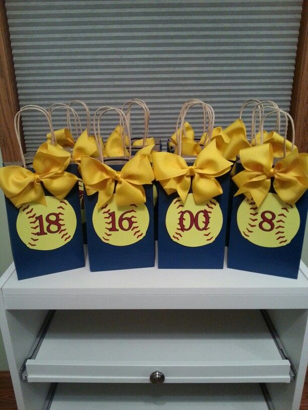 Softball Gift Bags With Images